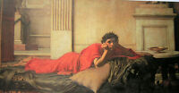 """Oil painting Waterhouse - The Remorse of Nero After the Murder of his mother 36"""""""