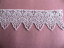 "Vintage Venise lace Owl Trim edge Linen Lingerie 2"" Ivory craft $ By yard #1009v"
