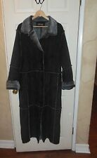 WOMEN'S FORECASTER SPORT BLACK LONG HEAVY WINTER COAT SIZE L EXCELLENT!