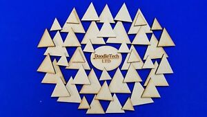 Wooden Triangles Laser Cut MDF Blank Embellishments Craft Decorations Shapes