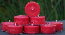 10pk 120hr /pack AUSTRALIAN RED BORONIA & SANDALWOOD Scent SOY TEA LIGHT CANDLES