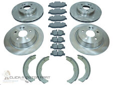 MERCEDES VITO W639 2004-2014 FRONT & REAR BRAKE DISCS AND PADS & HANDBRAKE SHOES