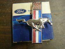 NOS OEM Ford 1967 Mustang 390 Fender Horse Emblem Ornament Badge Pony