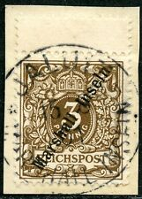 410) Marshall-Inseln Mi.-Nr. 7 mit Zwischensteg oben auf Kabinett-Briefstück !!