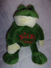 """Toadally in Love Frog Toad 13"""" Plush Soft Toy Stuffed Animal"""