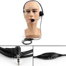 1x Heavy Duty Overhead PTT Headset For YAESU VX351 VX34/3R/5R FT50R/60R Radio