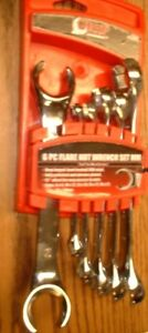 Grip 6 pc Flare Nut Wrench Set Metric 91080