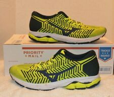 Mizuno Running Shoes WAVEKNIT R2 J1GC1829 Yellow × Navy sz 13 EUC