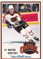 Wayne Gretzky Los Angeles Kings 1989-90 Kraft Dinners Hockey Card #59 Box Cut