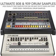 Roland 808 & 909 Drum Samples - High Quality WAV - 1 Shot Samples
