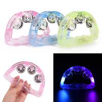 LED leuchten blinkend Tamburin schütteln sensorische Spielzeug glühend Handb CL