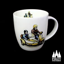 Lambretta, Sidecar, Scooter, Vespa, Mods, inspired Mug Gift By Foley Pottery