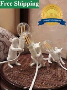 Seletti Mouse Lamp Wall Light Resin Rat Wall Sconce Bedroom Bedside Table Lamps