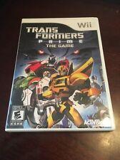 Transformers Prime: The Game - Wii ( Nintendo Wii , 2012 ) CIB !