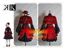 K Anime Anna Kushina Formal Dress Cosplay Costume Custom Made With Hat