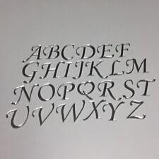Spiegel Buchstaben 4 oder 8 cm hoch Auswahl A-Z Deko Schrift Alphabet Wunschtext