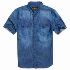 Superdrydragway s/s denim shirt