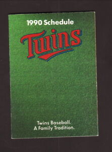 Minnesota Twins--1990 Pocket Schedule--SuperAmerica