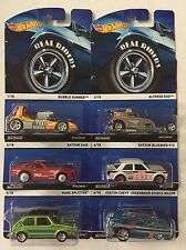 Complete 6 Car Set * Real Riders * Hot Wheels Heritage Bluebird 240Z Hare * h39