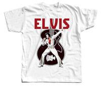 Rare Elvis Presley T-shirt White  Men Short Sleeve All Size S-4XL  KL179
