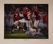 Alabama football The Pick Six print signed Daniel Moore and Marcel Dareus