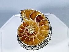 Sterling Silver .925 Ammonite Ring - Sale - 50% off