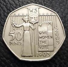 Rare 2003 Suffragette Give Women the Vote 50p Coin