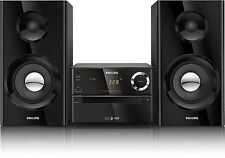 Bluetooth Compact Shelf Stereo Speakers MP3/CD Player Bass Reflex System AUX USB