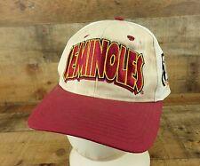 Seminoles Hat Cap Wood Grain Big Logo Noles FSU Florida State University Vtg