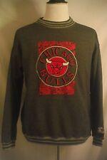 Mens Large L Starter Brand Chicago Bulls Basketball Gray Long Sleeve Sweatshirt