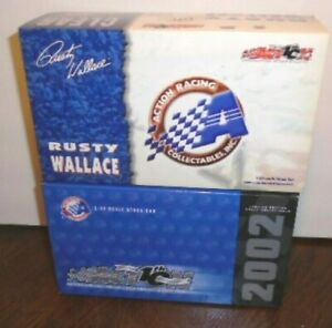 NEW ACTION 2002 RUSTY WALLACE #2 ELVIS 25TH ANNIVERSARY CLEAR CAR 1/ 4,884, 1/24