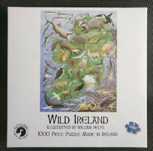 WILD IRELAND William Helps 1000 Pcs Irish Animals Jigsaw Puzzle NEW & SEALED