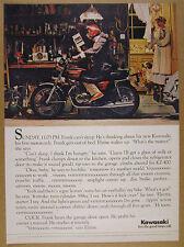 1975 Kawasaki KZ-400 KZ400 Motorcycle photo vintage print Ad