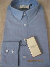 Thomas Pink Fenwright shirt - Size 16.5 Blue Spot Slim Fit - BNWT, RRP £115