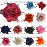 ROSE HAIR CLIP LARGE ROSE FASCINATOR ROSE HAIR ACCESSORIES CLIP ELASTIC WEDDING