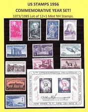 US STAMP YEAR SET OF 1956 1073/1085 LOT OF 12 +1 *MINT NH. 101