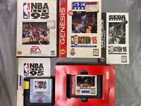 Sega Genesis BUNDLE/LOT BASKETBALL NBA LIVE 95 + NBA Action '95 Tested Authentic