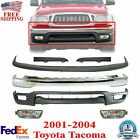 Front Chrome Bumper Kit With Fog Lights For 2001-2004 Toyota Tacoma
