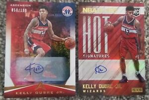 2x Kelly Oubre Auto Lot 2015-16 Panini NBA Hoops Hot Signatures & Ascension /199