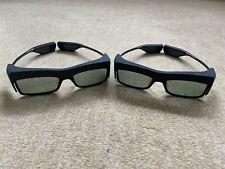 2x Samsung SSG-3700CR 3D Active Shutter Brille für TV Flachbildschirm Fernseher