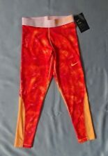 d535b49b5bf05 NEW Nike Pro Cool Dri-Fit Girls Athletic Leggings Orange Papaya Medium