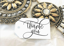 10 White Gift Tags Wedding Favour Bomboniere Thank you Christening Baptism V2