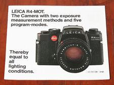 LEITZ LEICA R4-MOT SALES BROCHURE/125860