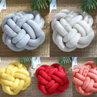 Knot Chunky Pillow Thick Cushion Throw Cute Baby Bed Sofa Home Decor Solid Color