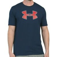 NWT UNDER ARMOUR AUTHENTIC BIG LOGO MEN'S NAVY CREW NECK SHORT SLEEVE T-SHIRT
