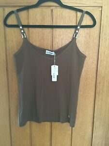 LUSH - VEST TOP BROWN NEW WITH TAGS SIZE 14
