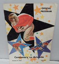 Vintage Centenary Vs Arizona Official Program October 17, 1936 Wildcats Rare