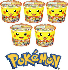 Sapporo Ichiban Pokemon noodles soy sauce 38g x5 cups pack / Exclusive Japan!