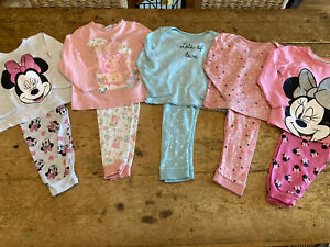 GIRL 18-24 MONTHS PYJAMAS BUNDLE WITH DRESSING GOWN
