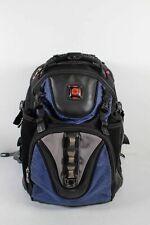 Swiss Gear Black Blue Nylon Unisex Travel Hiking Day Bag Backpack Size Large